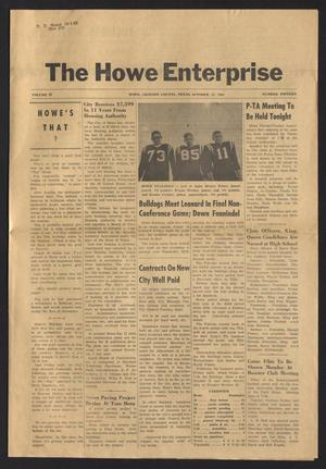 Primary view of object titled 'The Howe Enterprise (Howe, Tex.), Vol. 4, No. 15, Ed. 1 Thursday, October 13, 1966'.