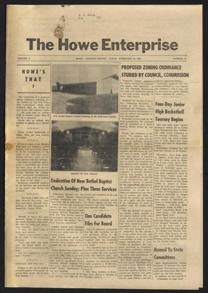 Primary view of object titled 'The Howe Enterprise (Howe, Tex.), Vol. 5, No. 33, Ed. 1 Thursday, February 20, 1969'.