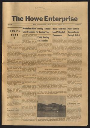 Primary view of object titled 'The Howe Enterprise (Howe, Tex.), Vol. 5, No. 42, Ed. 1 Thursday, April 24, 1969'.