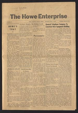 Primary view of object titled 'The Howe Enterprise (Howe, Tex.), Vol. 4, No. 25, Ed. 1 Thursday, December 29, 1966'.