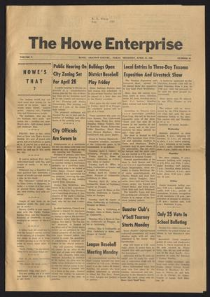 Primary view of object titled 'The Howe Enterprise (Howe, Tex.), Vol. 5, No. 40, Ed. 1 Thursday, April 10, 1969'.