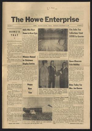 Primary view of object titled 'The Howe Enterprise (Howe, Tex.), Vol. 5, No. 24, Ed. 1 Thursday, December 26, 1968'.