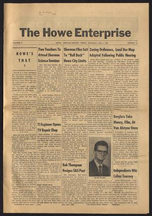 Primary view of object titled 'The Howe Enterprise (Howe, Tex.), Vol. 5, No. 43, Ed. 1 Thursday, May 1, 1969'.