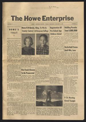 Primary view of object titled 'The Howe Enterprise (Howe, Tex.), Vol. 5, No. 26, Ed. 1 Thursday, January 9, 1969'.