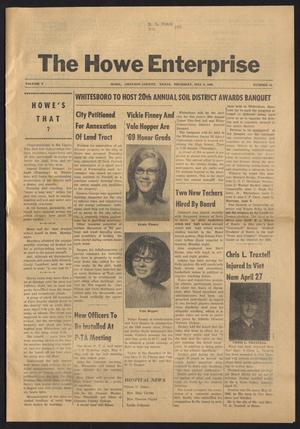 Primary view of object titled 'The Howe Enterprise (Howe, Tex.), Vol. 5, No. 43, Ed. 1 Thursday, May 8, 1969'.