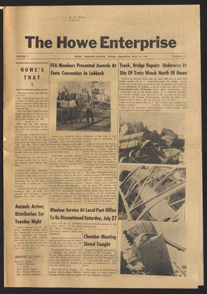 Primary view of object titled 'The Howe Enterprise (Howe, Tex.), Vol. 5, No. 3, Ed. 1 Thursday, July 25, 1968'.
