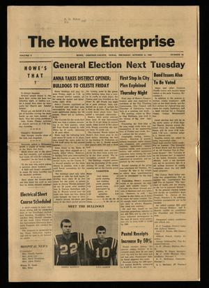 Primary view of object titled 'The Howe Enterprise (Howe, Tex.), Vol. 5, No. 16, Ed. 1 Thursday, October 31, 1968'.