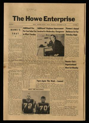 Primary view of object titled 'The Howe Enterprise (Howe, Tex.), Vol. 5, No. 11, Ed. 1 Thursday, September 26, 1968'.
