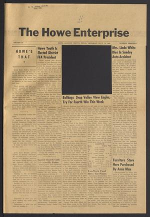 Primary view of object titled 'The Howe Enterprise (Howe, Tex.), Vol. 4, No. 13, Ed. 1 Thursday, September 29, 1966'.