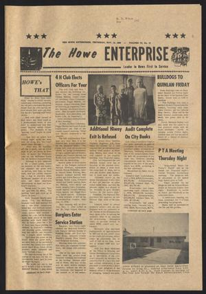 Primary view of object titled 'The Howe Enterprise (Howe, Tex.), Vol. 6, No. 17, Ed. 1 Thursday, November 13, 1969'.