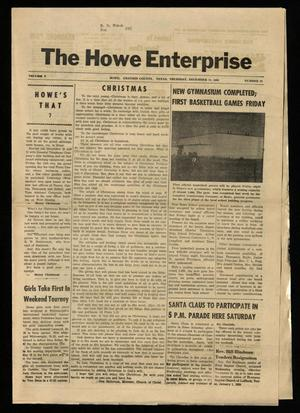 Primary view of object titled 'The Howe Enterprise (Howe, Tex.), Vol. 5, No. 22, Ed. 1 Thursday, December 12, 1968'.