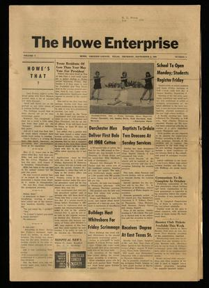 Primary view of object titled 'The Howe Enterprise (Howe, Tex.), Vol. 5, No. 8, Ed. 1 Thursday, September 5, 1968'.