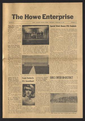 Primary view of object titled 'The Howe Enterprise (Howe, Tex.), Vol. 4, No. 33, Ed. 1 Thursday, February 23, 1967'.