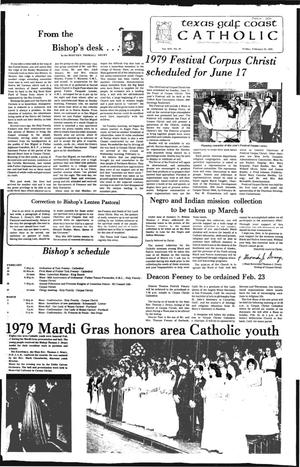 Primary view of object titled 'Texas Gulf Coast Catholic (Corpus Christi, Tex.), Vol. 14, No. 38, Ed. 1 Friday, February 23, 1979'.