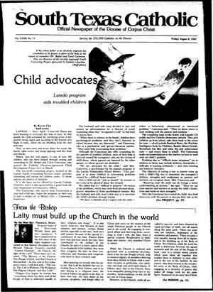 Primary view of object titled 'South Texas Catholic (Corpus Christi, Tex.), Vol. 18, No. 11, Ed. 1 Friday, August 6, 1982'.