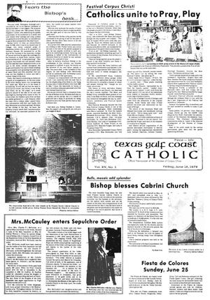 Primary view of object titled 'Texas Gulf Coast Catholic (Corpus Christi, Tex.), Vol. 14, No. 5, Ed. 1 Friday, June 16, 1978'.
