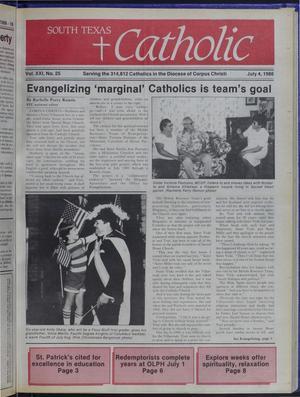 Primary view of South Texas Catholic (Corpus Christi, Tex.), Vol. 21, No. 25, Ed. 1 Friday, July 4, 1986