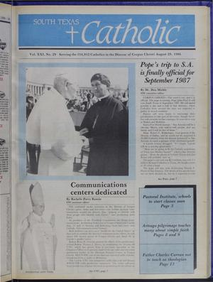 Primary view of object titled 'South Texas Catholic (Corpus Christi, Tex.), Vol. 21, No. 29, Ed. 1 Friday, August 29, 1986'.