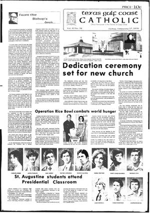 Primary view of object titled 'Texas Gulf Coast Catholic (Corpus Christi, Tex.), Vol. 12, No. 38, Ed. 1 Friday, February 17, 1978'.
