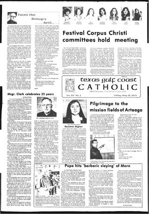 Primary view of object titled 'Texas Gulf Coast Catholic (Corpus Christi, Tex.), Vol. 14, No. 1, Ed. 1 Friday, May 19, 1978'.