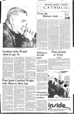 Primary view of object titled 'Texas Gulf Coast Catholic (Corpus Christi, Tex.), Vol. 15, No. 13, Ed. 1 Friday, August 24, 1979'.