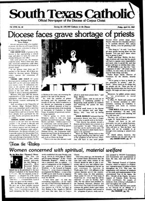 Primary view of object titled 'South Texas Catholic (Corpus Christi, Tex.), Vol. 17, No. 46, Ed. 1 Friday, April 16, 1982'.