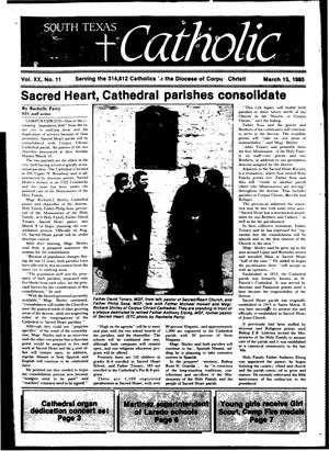 Primary view of object titled 'South Texas Catholic (Corpus Christi, Tex.), Vol. 20, No. 11, Ed. 1 Friday, March 15, 1985'.