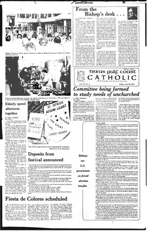 Primary view of object titled 'Texas Gulf Coast Catholic (Corpus Christi, Tex.), Vol. 15, No. 6, Ed. 1 Friday, June 29, 1979'.