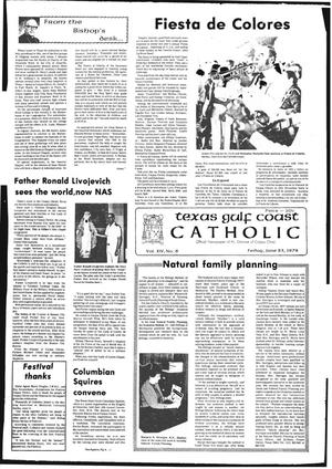 Primary view of object titled 'Texas Gulf Coast Catholic (Corpus Christi, Tex.), Vol. 14, No. 6, Ed. 1 Friday, June 23, 1978'.