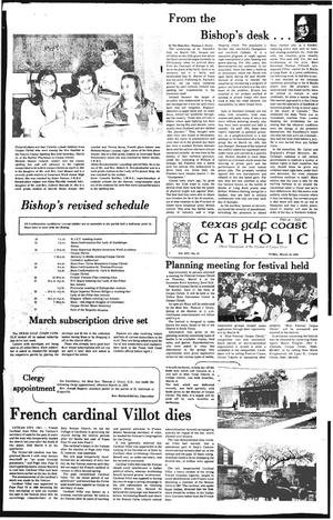 Primary view of object titled 'Texas Gulf Coast Catholic (Corpus Christi, Tex.), Vol. 14, No. 41, Ed. 1 Friday, March 16, 1979'.