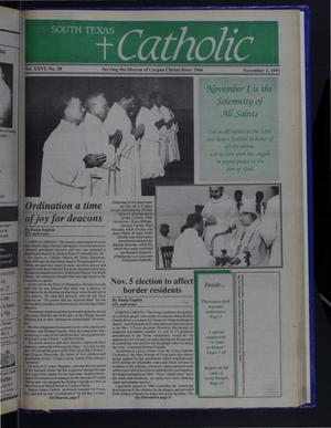 Primary view of object titled 'South Texas Catholic (Corpus Christi, Tex.), Vol. 26, No. 38, Ed. 1 Friday, November 1, 1991'.