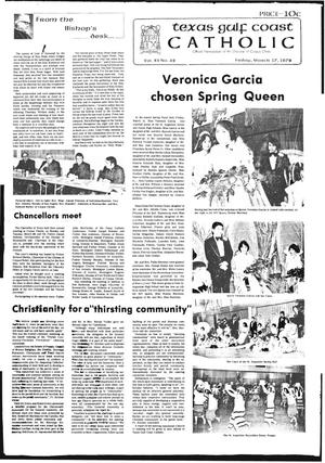 Primary view of object titled 'Texas Gulf Coast Catholic (Corpus Christi, Tex.), Vol. 12, No. 42, Ed. 1 Friday, March 17, 1978'.