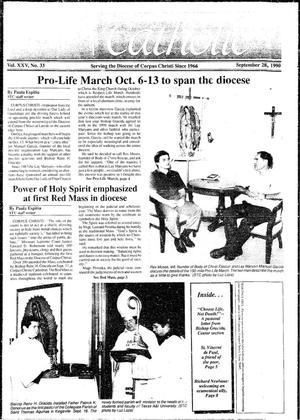 Primary view of object titled 'South Texas Catholic (Corpus Christi, Tex.), Vol. 25, No. 33, Ed. 1 Friday, September 28, 1990'.