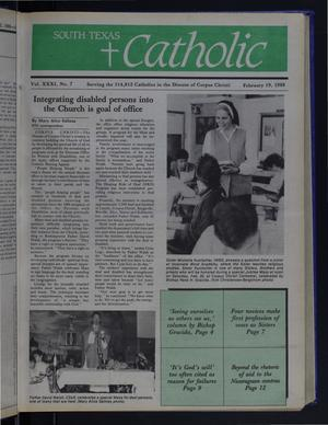 Primary view of object titled 'South Texas Catholic (Corpus Christi, Tex.), Vol. 31, No. 7, Ed. 1 Friday, February 19, 1988'.