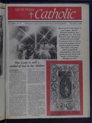 Primary view of object titled 'South Texas Catholic (Corpus Christi, Tex.), Vol. 31, No. 44, Ed. 1 Friday, December 9, 1988'.