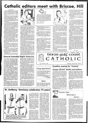 Primary view of object titled 'Texas Gulf Coast Catholic (Corpus Christi, Tex.), Vol. 12, No. 48, Ed. 1 Friday, April 28, 1978'.