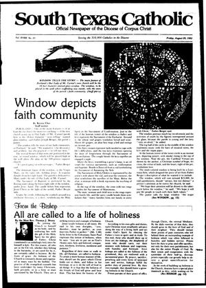 Primary view of object titled 'South Texas Catholic (Corpus Christi, Tex.), Vol. 18, No. 13, Ed. 1 Friday, August 20, 1982'.