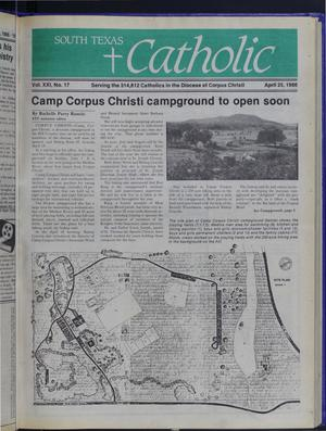 Primary view of object titled 'South Texas Catholic (Corpus Christi, Tex.), Vol. 21, No. 17, Ed. 1 Friday, April 25, 1986'.