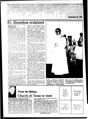 Primary view of object titled 'South Texas Catholic (Corpus Christi, Tex.), Vol. [18], No. [18], Ed. 1 Friday, September 24, 1982'.