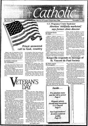 Primary view of object titled 'South Texas Catholic (Corpus Christi, Tex.), Vol. 15, No. 39, Ed. 1 Friday, November 9, 1990'.
