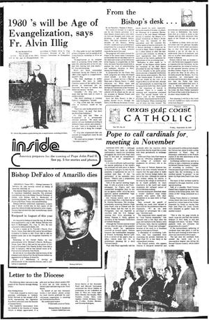 Primary view of object titled 'Texas Gulf Coast Catholic (Corpus Christi, Tex.), Vol. 15, No. 18, Ed. 1 Friday, September 28, 1979'.