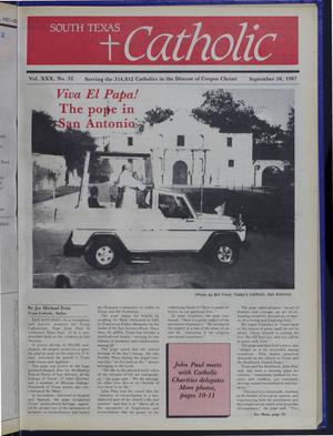 Primary view of object titled 'South Texas Catholic (Corpus Christi, Tex.), Vol. 30, No. 32, Ed. 1 Friday, September 18, 1987'.
