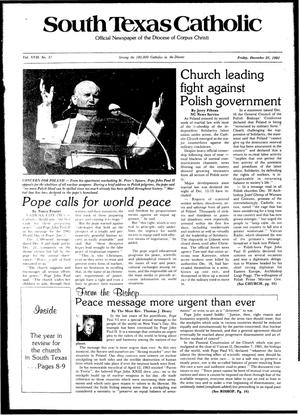 Primary view of object titled 'South Texas Catholic (Corpus Christi, Tex.), Vol. 17, No. 31, Ed. 1 Friday, December 25, 1981'.