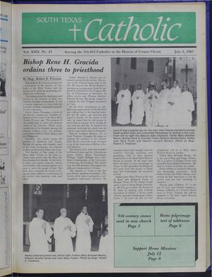 Primary view of object titled 'South Texas Catholic (Corpus Christi, Tex.), Vol. 22, No. 25, Ed. 1 Friday, July 3, 1987'.