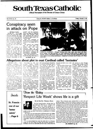Primary view of object titled 'South Texas Catholic (Corpus Christi, Tex.), Vol. 17, No. 19, Ed. 1 Friday, October 2, 1981'.