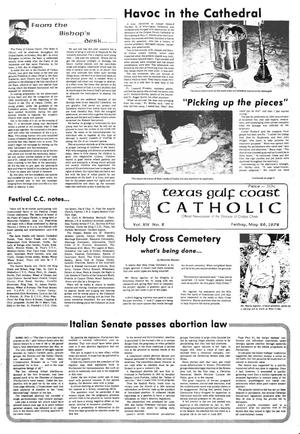 Primary view of object titled 'Texas Gulf Coast Catholic (Corpus Christi, Tex.), Vol. 14, No. 2, Ed. 1 Friday, May 26, 1978'.
