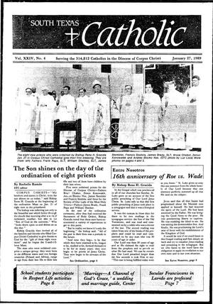 Primary view of object titled 'South Texas Catholic (Corpus Christi, Tex.), Vol. 24, No. 4, Ed. 1 Friday, January 27, 1989'.