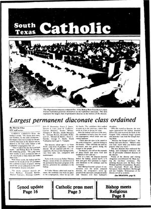 Primary view of object titled 'South Texas Catholic (Corpus Christi, Tex.), Vol. 19, No. 17, Ed. 1 Friday, October 21, 1983'.