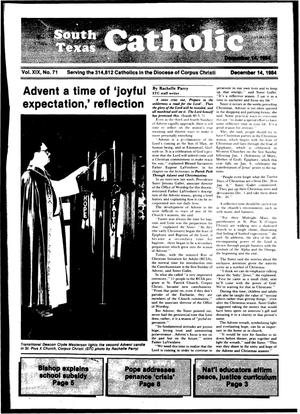 Primary view of object titled 'South Texas Catholic (Corpus Christi, Tex.), Vol. 19, No. 71, Ed. 1 Friday, December 14, 1984'.