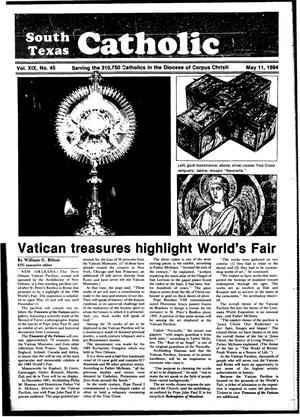 Primary view of object titled 'South Texas Catholic (Corpus Christi, Tex.), Vol. 19, No. 45, Ed. 1 Friday, May 11, 1984'.